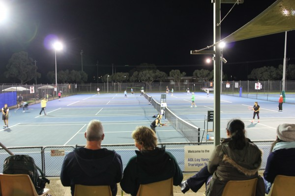 Night Tennis in Traralgon